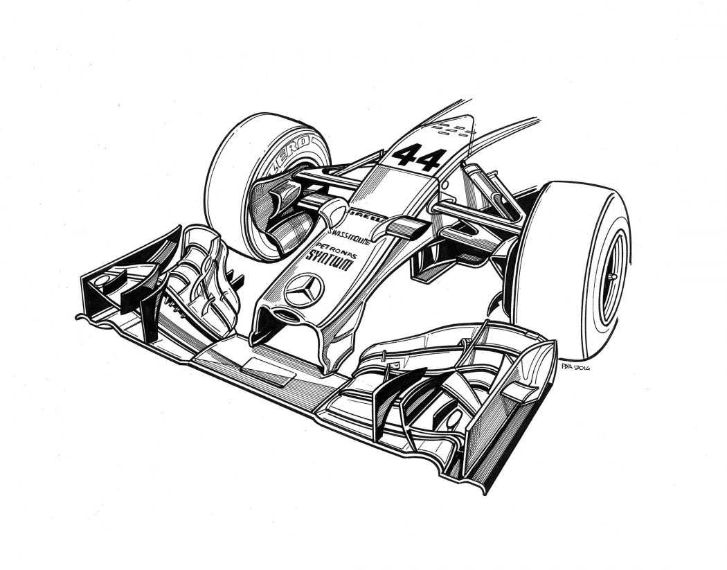Technical Drawings Of Mercedes Cars By Paolo D
