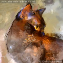 Ellie a Burmese cat in contemporary style