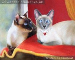 Leo and Sheba, 20x16 classic oil painting on panel