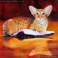 A red oriental in oils