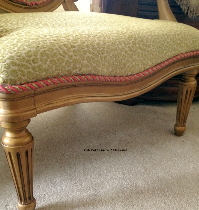 How To Reupholster A French Armchair Gold Chair