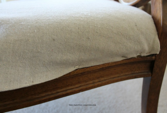 drop cloth ottoman how to reupholster a french armchair