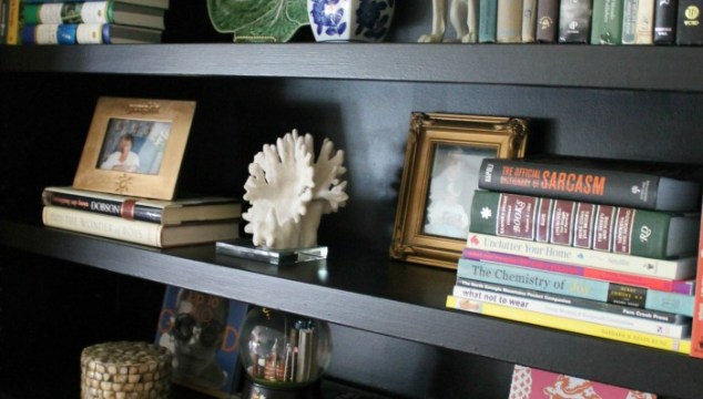The Family Room: New Black Painted & Styled Bookcases