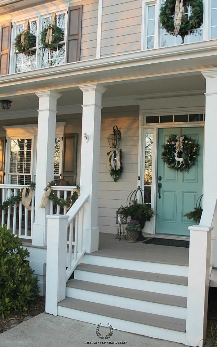christmas porch tour 2014 the painted chandelier. Black Bedroom Furniture Sets. Home Design Ideas