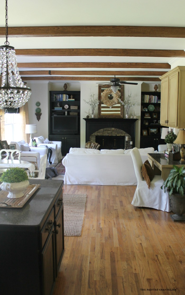 Az Faux Beams Kitchen And Family Room Project