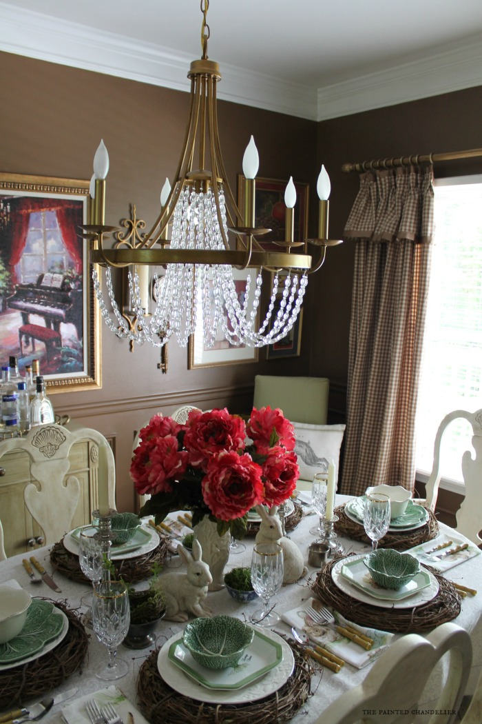 After New Chandelier Dining Room Empire Style