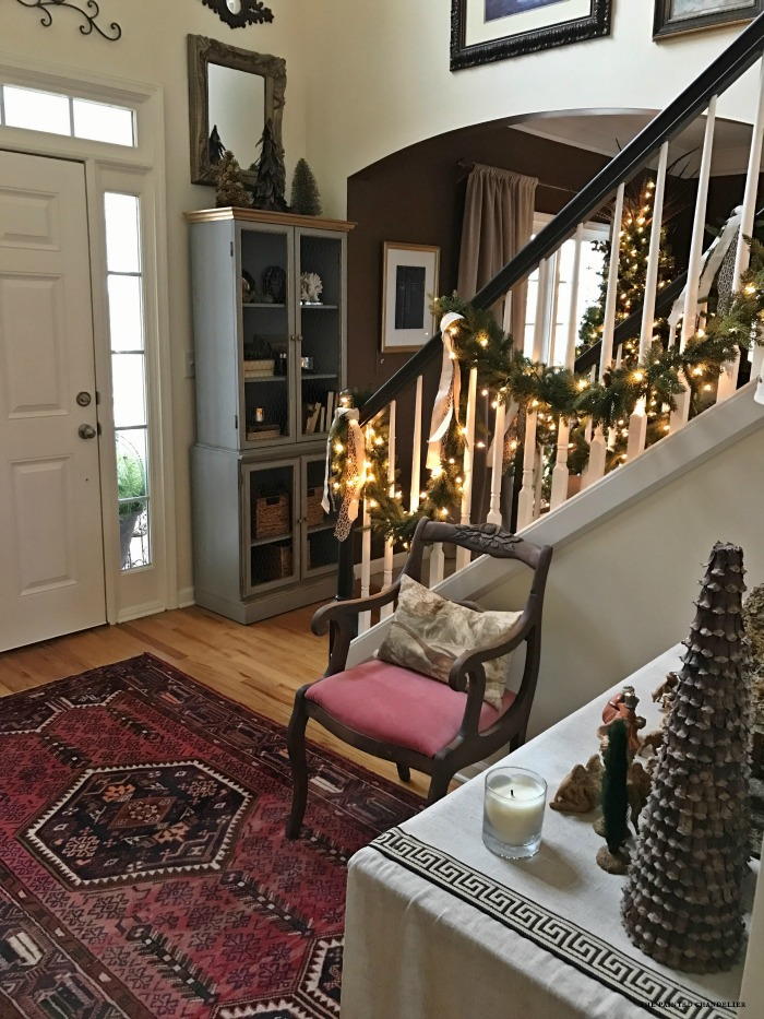 Lighting Basement Washroom Stairs: Transitioning From Christmas To Winter Home Decor
