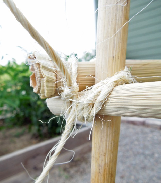 Tomato Towers using Bamboo Poles and Garden Twine