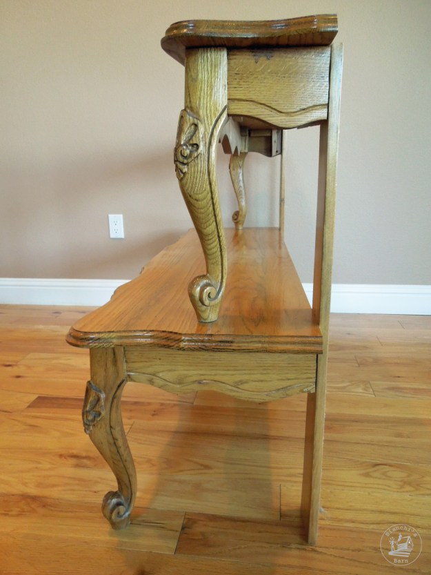 Entryway table from a repurposed coffee table for Small block coffee table