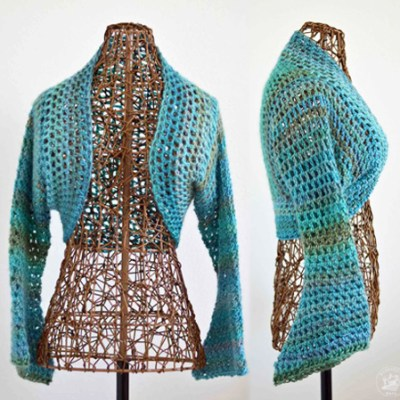 Sweet Spring Shrug No Seam Crochet Pattern