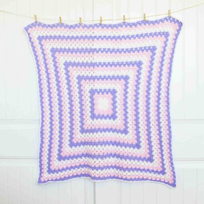 Granny Square Baby Blanket Free Crochet Pattern