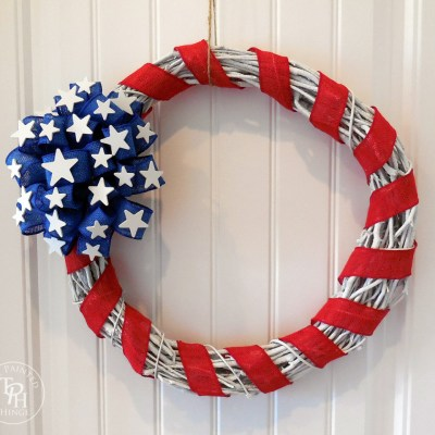 Stars & Stripes 4th of July Wreath