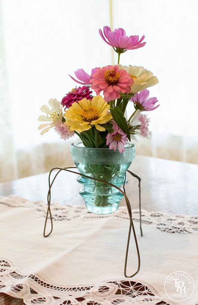 Electric Insulator Vase Stand Tutorial