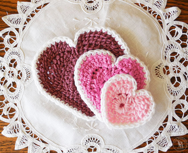 The Easiest Heart Crochet Pattern Ever In 3 Sizes!