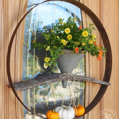 Funnel And Wine Barrel Wreath Tutorial