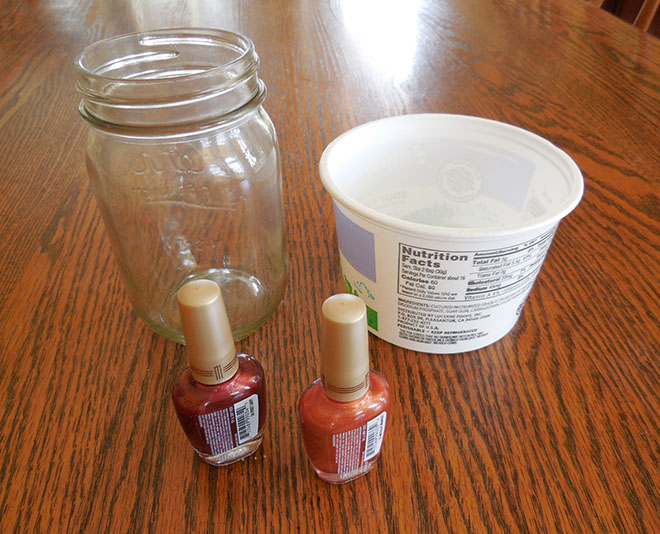 How To Paint Mason Jars With Nail Polish