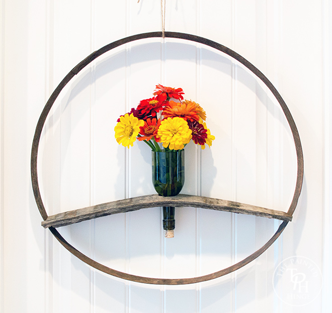 Wine Barrel & Bottle Wreath-1