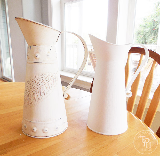 Galvanized Pitchers Chalk Paint Makeove