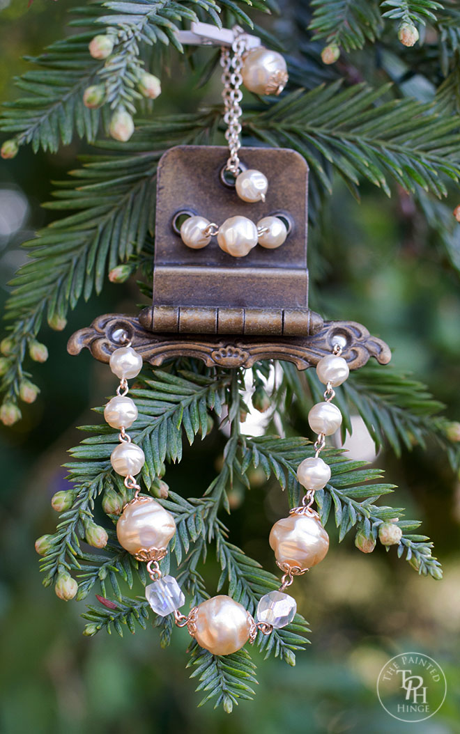 Vintage Hinge & Jewelry Christmas Ornament
