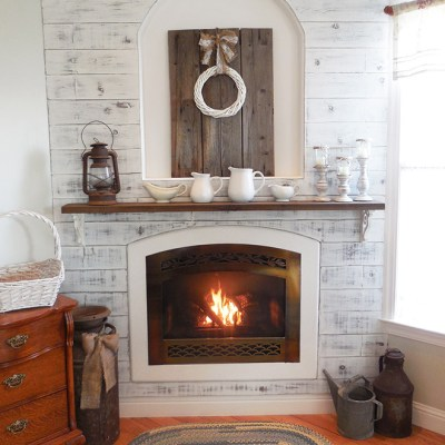 Master Bedroom Fireplace and Mantel Makeover