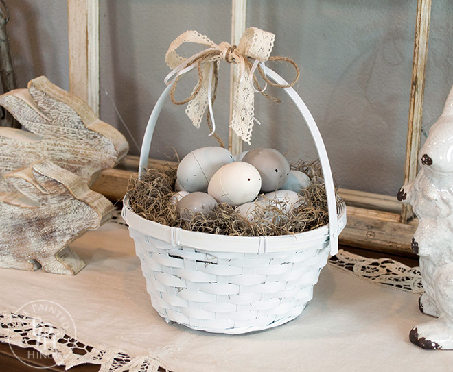 Use Your New Easter Egg Basket As A Table Centerpiece Or Display Part Of An Vignette I Have Mine On Top My Entryway Sideboard Along With Some