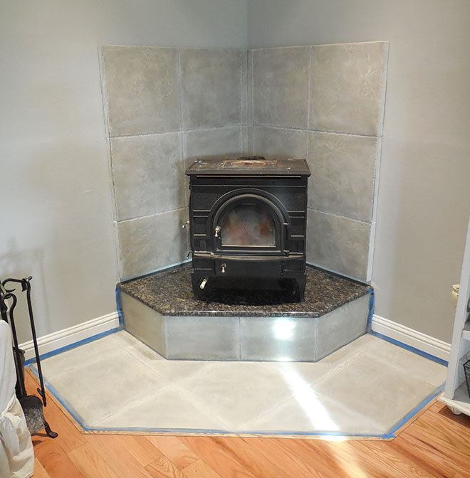 DIY Corner Fireplace Mantel Makeover