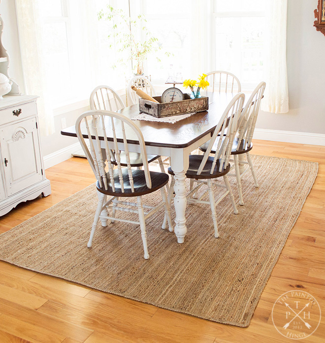 Farmhouse Dining Room Table Makeover