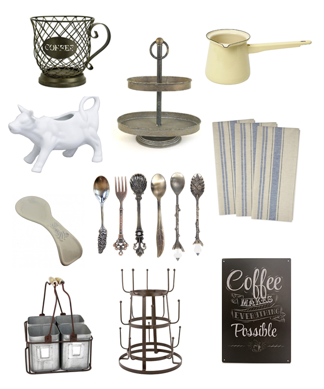 Goodies for a Farmhouse Style Coffee Bar on Amazon