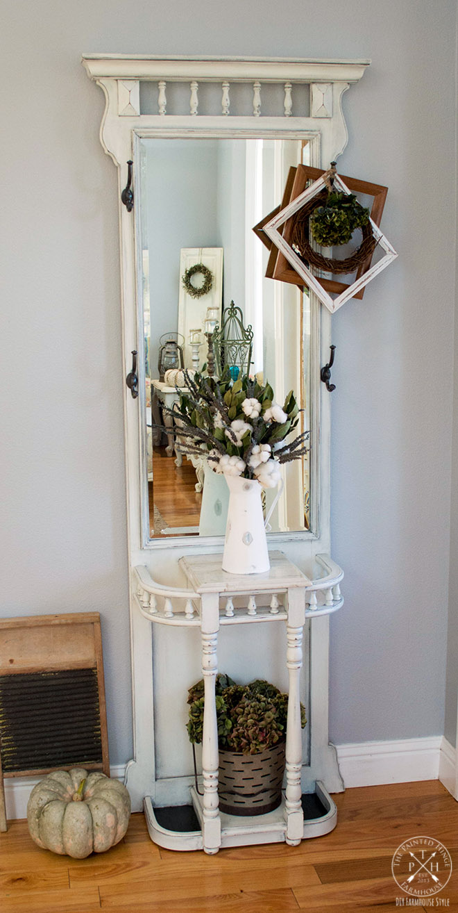 A Hall Tree Makeover Using Chalk Paint 13