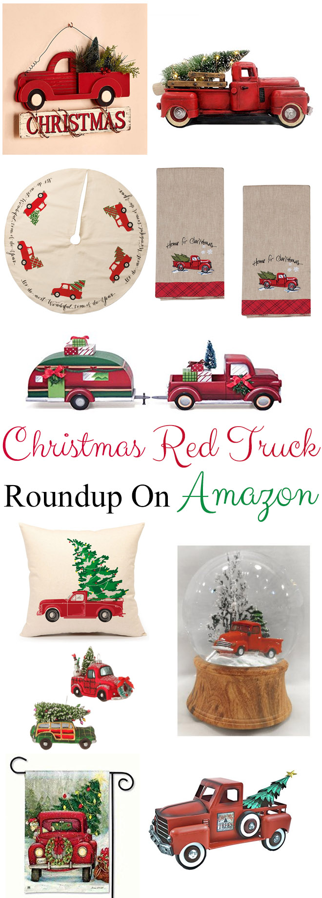 of christmas red truck decor available there if you dont see something you like below click here to see all the red truck decor amazon has to offer