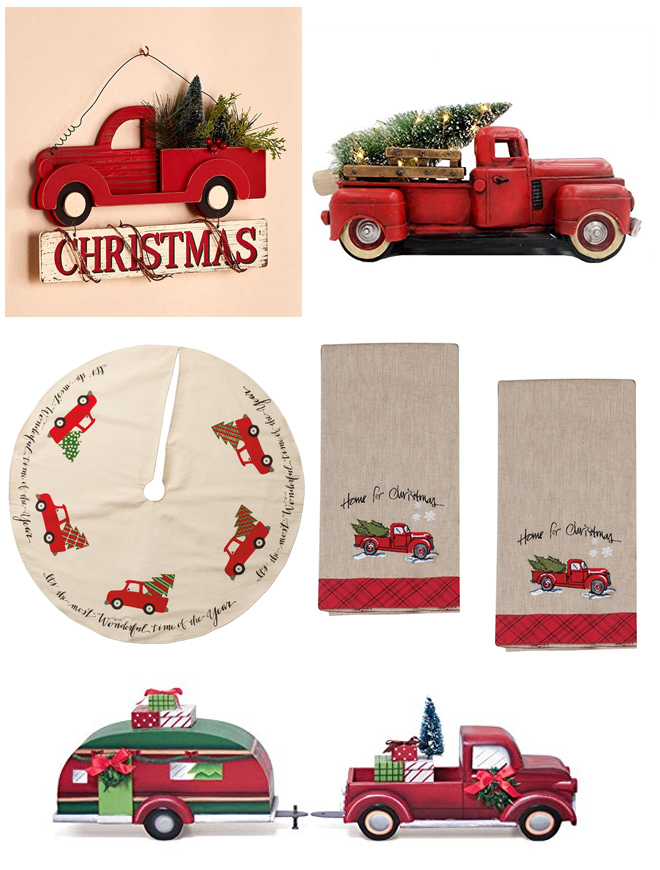 Christmas Red Truck Roundup On Amazon