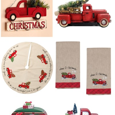 Christmas Red Truck Roundup On Amazon!