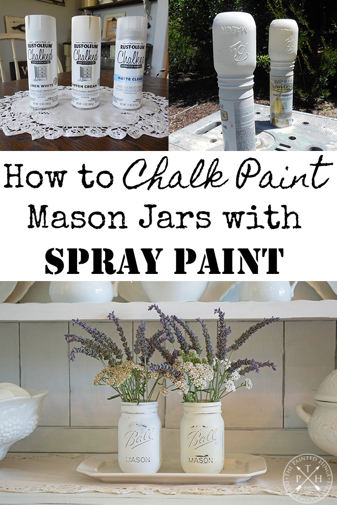 How to Chalk Paint Mason Jars with Spray Paint