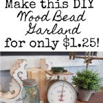 Diy Wood Bead Garland For Only 1 25
