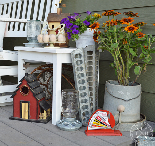 Transitioning from Summer to Fall on the Porch