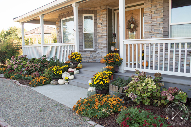 A Colorful Farmhouse Fall Porch