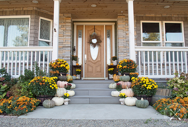 A Colorful Farmhouse Front Porch