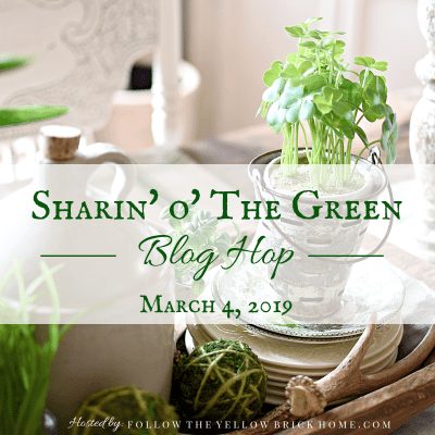 Farmhouse Shelf Styling Ideas for St. Patrick's Day