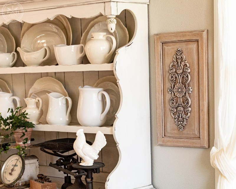 Repurposed Cabinet Door into Ornate Wall Decor