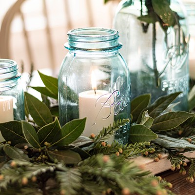 Decorating with Mason Jars and Bottles