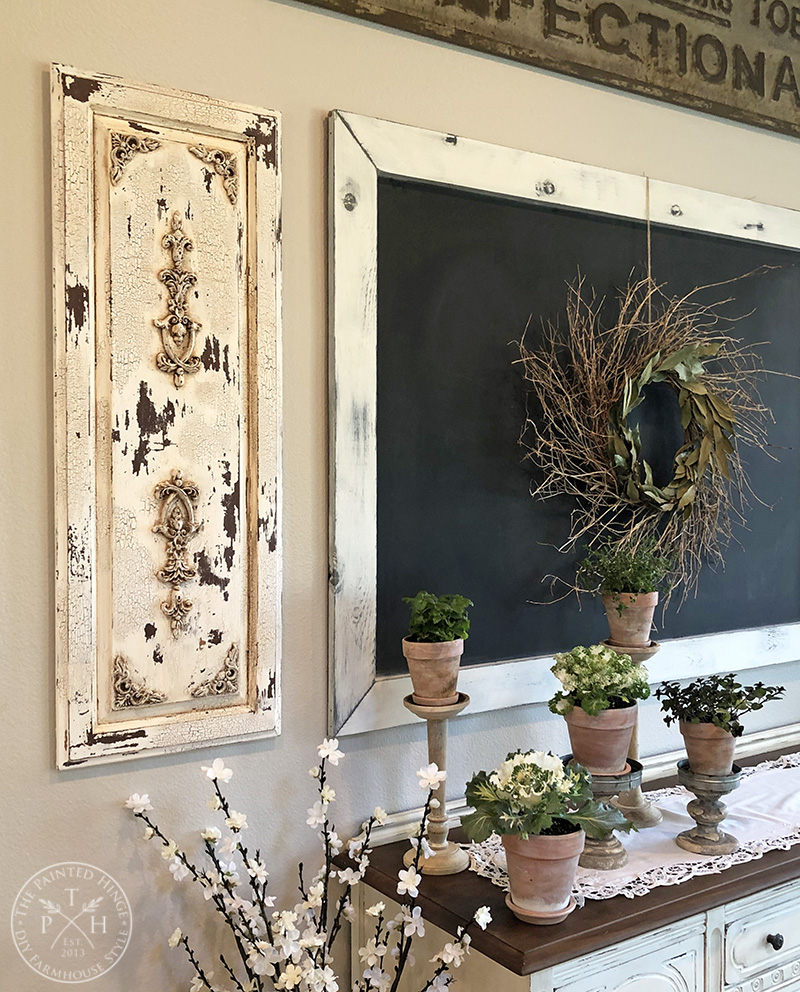 DIY Antiqued Wall Panel