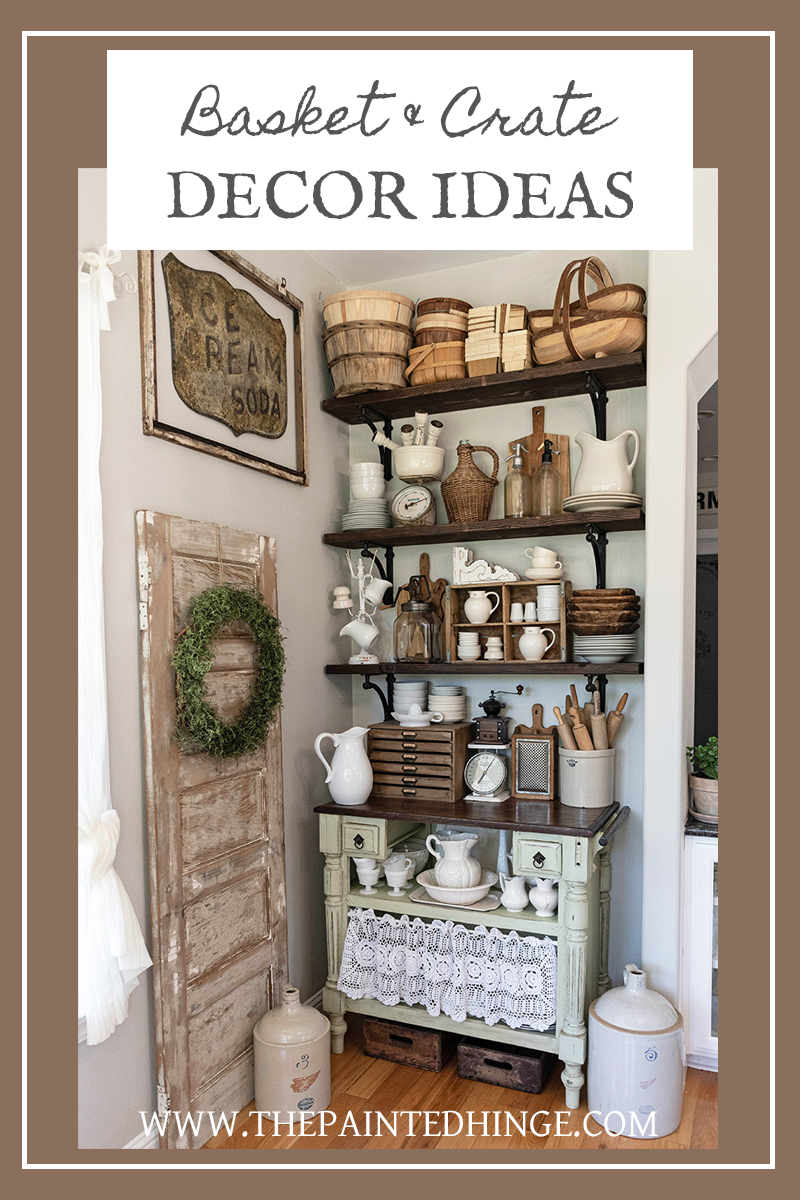 How to decorate with baskets and crates!