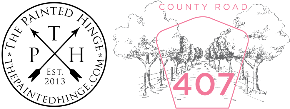 This image has an empty alt attribute; its file name is The-Painted-Hinge-County-Road-407-Logo-2021.png