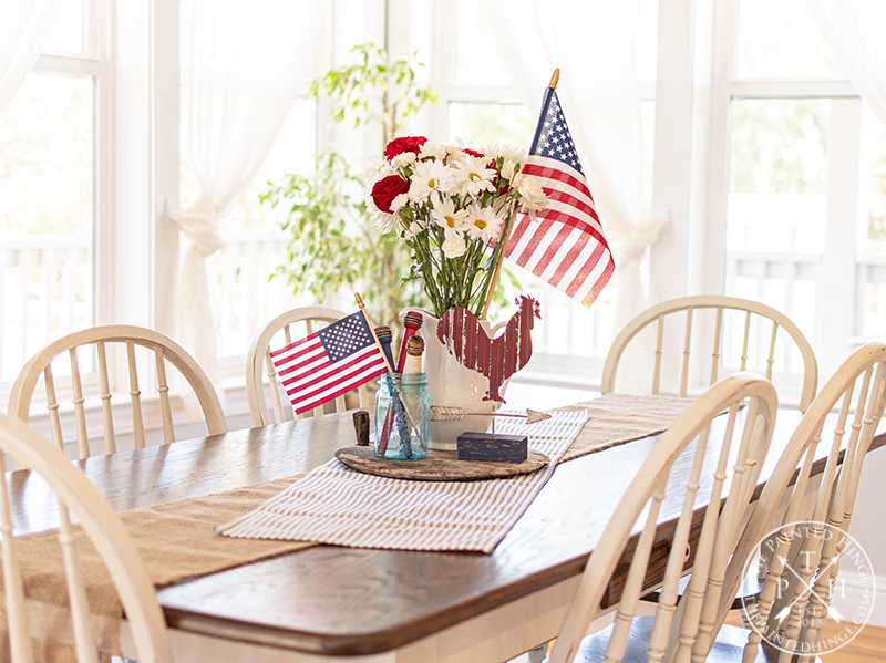 Patriotic Centerpiece using Thrifted Finds