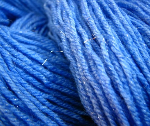 Beyond the Blue - Silk and Silver Hand Dyed Yarn