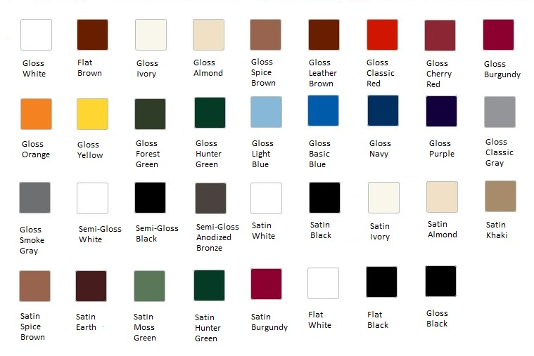 Rust Oleum Oil Paint Color Chart