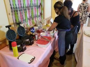 Waffle Bar Catering at Baby Shower