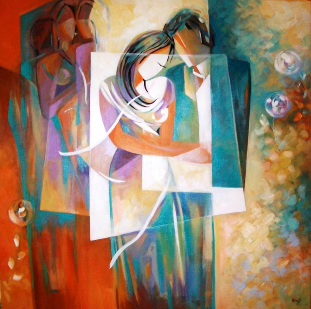 She-Him 100 x 100 cm Acrylic on canvas