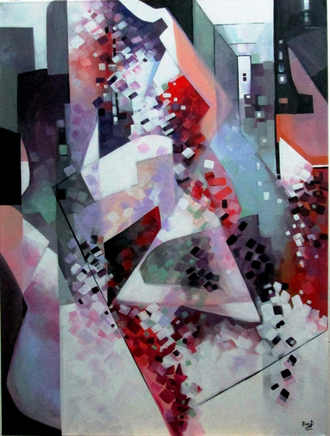 Reflections 40 x 30cm Acrylic on canvas