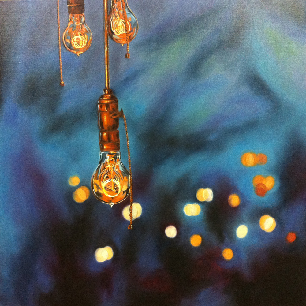 The night is good counselor - 100x100 cm - oil on canvas